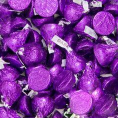Purple Hershey's Kisses Dark Chocolate