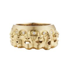 Yellow Gold and Diamond Emotions Ring