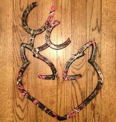 Made out of horseshoes and dipped in muddy girl, camo