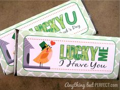 {Free Printable} St. Patty's Candy Bar Wrappers