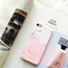 New Glossy Granite Lovely Pink Patchwork Color Marble Phone Case For iPhone 7 7plus 6s 6 6Plus 6splus Soft TPU Cases Back Cover