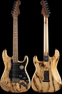 Fender American Design Stratocaster® Burnt Natural Stain, Walnut Neck (634)