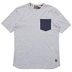 POCKET TEE GREY MARL