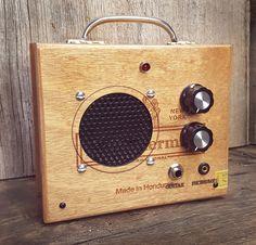 """The Hamilton"" All-wood Cigar Box Amplifier for Guitar, Cigar Box Guitar & More - C. B. Gitty Crafter Supply"