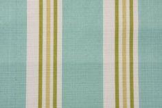 Stripe/Plaid Outdoor :: Richloom Manzi Printed Polyester Linen Outdoor Fabric in Seaspray $8.95 per yard - Fabric Guru.com: Fabric, Discount...
