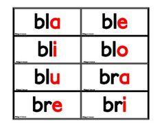 FREE - Silabas Trabadas Flash Cards