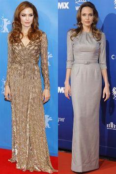 Анджелина джоли в платье