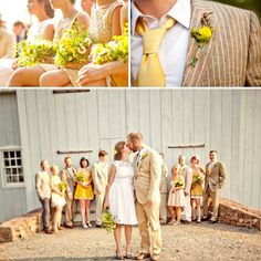 yellow and tan wedding - Google Search