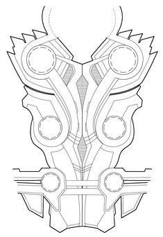 Thors chest armor diagram for Rule's Thor cosplay. Feel free to use it for your cosplay, just link back here so other people can use it too! -October
