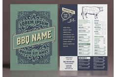Restaurant Menu Layout with Ornamental Elements #menu #card #food #vintage #western #restaurant #bar #retro #template #ornaments Restaurant Menu Template, Menu Restaurant, Business Brochure, Business Card Logo, Western Restaurant, Menu Layout, Ui Kit, Line Design, Journal Cards