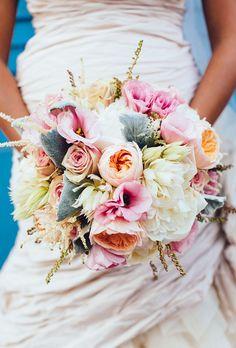 Peony, Rose and Dahlia Wedding Bouquet