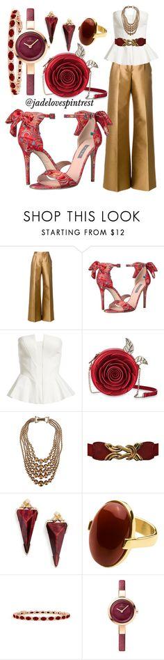 """Crimson & Gold Accessories"" by jadelovespintrest ❤ liked on Polyvore featuring Antonio Berardi, SJP, Bardot, George J. Love, Kendra Scott and Dyrberg/Kern"