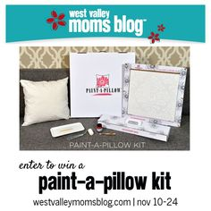 Paint a Pillow Giveaway