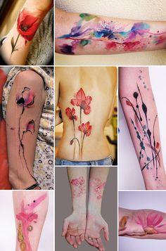 Love watercolor tattoos! !!