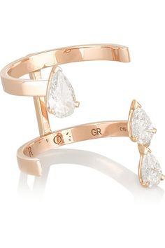 Repossi | Serti Sur Vide 18-karat rose gold diamond ring | NET-A-PORTER.COM