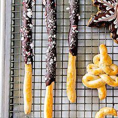 Chocolate-Peppermint Pocky Sticks Recipe (Sunset)