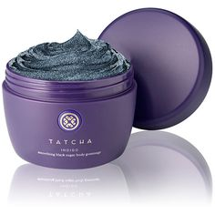 Tatcha INDIGO Smoothing Black Sugar Body Gommage (€67) ❤ liked on Polyvore featuring beauty products, bath & body products, body cleansers, colorless and tatcha