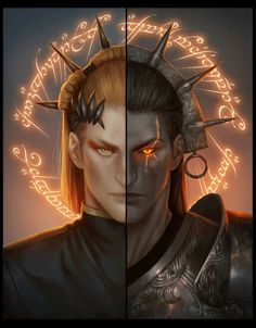 """But the Elves were not so lightly to be caught. As soon as Sauron set the One Ring upon his finger they were aware of him; and they knew him, and perceived that he would be master of them, and of an that they wrought. Then in anger and fear they took off their rings.""The Silmarillion"