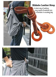 kikkabo leather strap- clever!