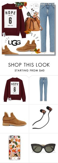 """The New Classics With UGG: Contest Entry"" by mari-meri ❤ liked on Polyvore featuring Studio Concrete, Acne Studios, UGG, Old Navy, Casetify, Victoria Beckham, ECCO and ugg"