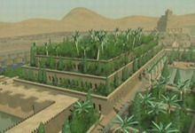 Les Jardins suspendus de Babylone près de Bagdad