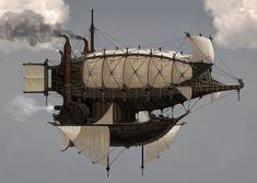 Medieval Mother Ship by Juhyung Kang Steampunk Ship, Design Steampunk, Steampunk Kunst, Steampunk Lego, Zeppelin, Sci Fi Fantasy, Fantasy World, Final Fantasy, Flying Ship