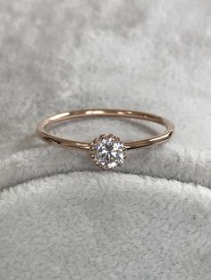 Rings Engagement Ring Rose Gold Ring Wedding Ring Promise