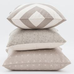 Taupe/Neutral colour cushion #combinations from Basics and China Blue Range