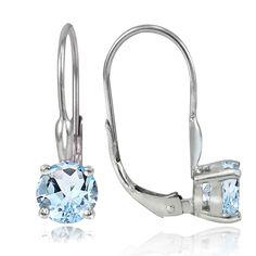 Glitzy Rocks Sterling Silver 2ct TGW Topaz Leverback Earrings