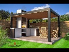 a-frame cabin and outdoor kitchen furniture model model obj fbx dae skp 3 Bahçe Backyard Gazebo, Backyard Patio Designs, Outdoor Pergola, Backyard Landscaping, Pergola Carport, Rustic Outdoor, Outdoor Kitchen Patio, Outdoor Kitchen Design, Outdoor Kitchens