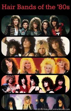 Can you name these hair bands of the *Bon Jovi *Motley Crue *Poison *Ratt *Cinderella Those Were The Days, The Good Old Days, Metal Style, Retro, 80s Hair Bands, 1980s Bands, Party Fiesta, We Will Rock You, 80s Rock