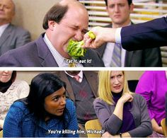 Eat It // funny pictures - funny photos - funny images - funny pics - funny quotes - Kevin The Office, Best Of The Office, The Office Show, Best Tv Shows, Best Shows Ever, Funny Images, Funny Pictures, Funny Pics, Song Lyrics And Chords