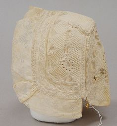 Early 18th German Woman's Cap. Via:http://www.metmuseum.org/collection/the-collection-online/search/98325