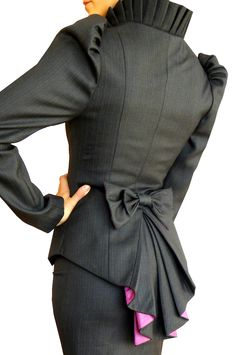 ghertrude jacket (fabric in picture not available). $169.90, via Etsy - <3 love the bow and the tail~!