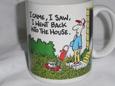 Hallmark Mug I Came I Saw I Went Back Into The House Mowing Shoebox Greetings #Hallmark