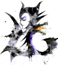 Maleficent has always been the coolest Disney villain, and this art does her justice.