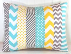 Pillow Cover Nursery Pillow Cover Patchwork by theredpistachio