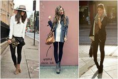 three ways to wear leggings/jeggings