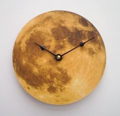 """""""Autumn Moon Clock""""  by   """"Cybermoon""""  """"Moonstruck"""" is how Alan talks about our feelings towards the moon,  I most certainly am when I gaze up at her.  This shop holds so many wonderful clock creations to choose from."""