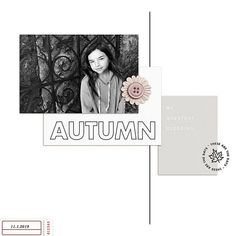 My Greatest Blessing - Snapshots of Fall Autumn Digital Scrapbooking page using Autumn Stories | Journal Cards by Sahlin Studio