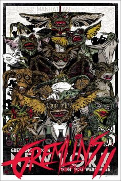 Gremlins 2 Poster by Rhys Cooper from Mondo  (Onsale Info)