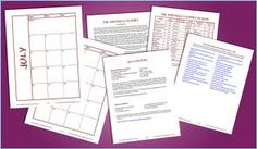 Links to homeschool planners