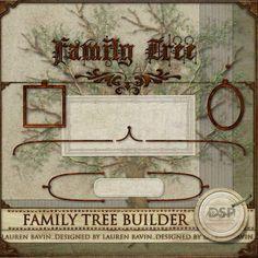 Family Tree Builder - $3.19 : Digital Scrapbook Place, Inc. , High Quality Digital Scrapbook Graphics