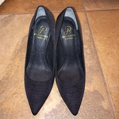 """Adrianna Papell pumps Worn once. Still in great condition. Fabric Upper, Leather lining and leather sole. Pumps are size 5.5 but they run little big. Recommend to a size 6 person. Heels are 3.5"""" Adrianna Papell Shoes Heels"""