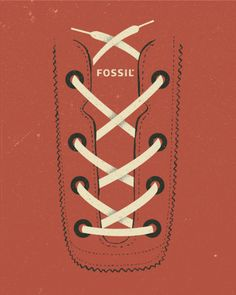 Fossil footwear poster by Dustin Wallace