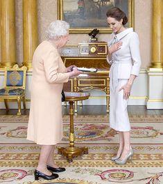 Angelina Jolie Meets Queen Elizabeth II to Receive Honorary Damehood: Brad Pitt, Kids In Attendance as Well