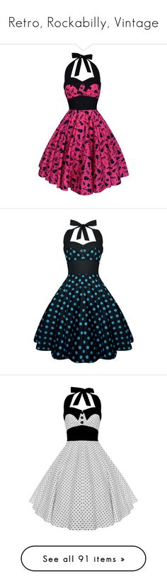 """Retro, Rockabilly, Vintage"" by pati777 ❤ liked on Polyvore featuring dresses, plus size party cocktail dresses, plus size vintage dresses, plus size prom dresses, vintage prom dresses, plus size cotton dresses, grey, women's clothing, vintage dresses and plus size swing dress"