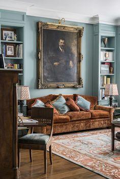 Turquoise and bronze interior