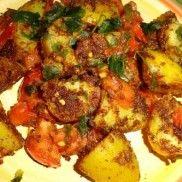 Bombay burgonya Meat, Chicken, Food, Beef, Eten, Meals