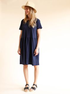 Calder Elodie Tee Dress - Indigo
